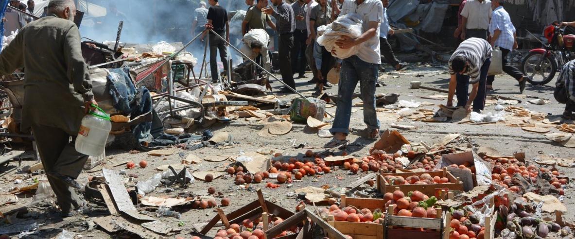 استشهاد لاجئ وتدمير 60% بقصف مستمر على مخيم اليرموك