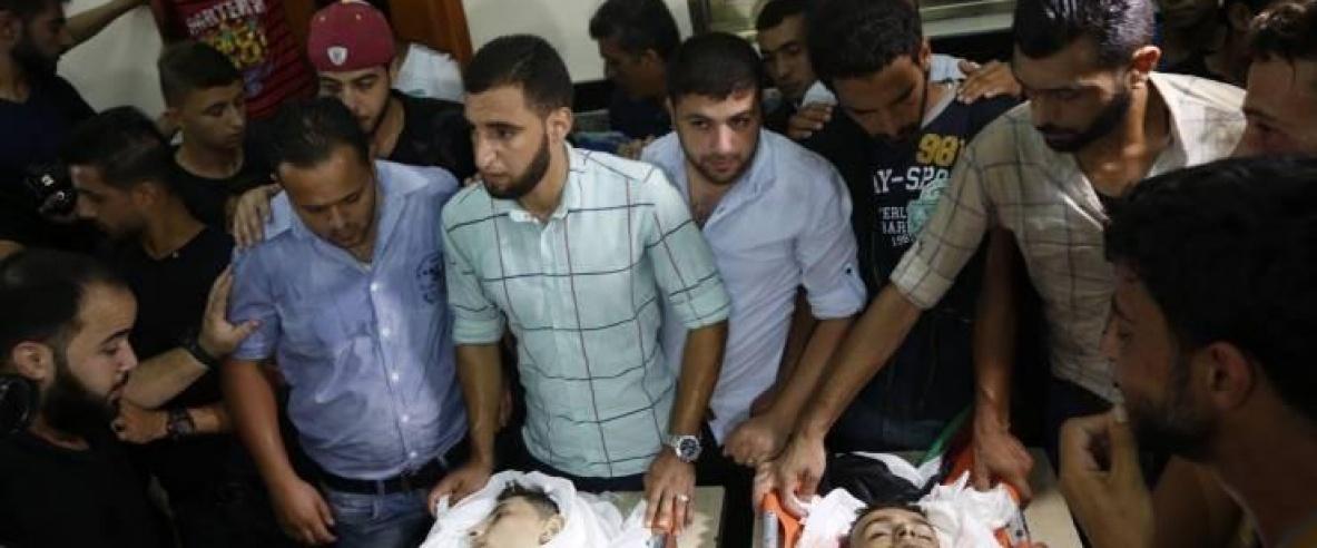 غزة تشيع الطفلين النمرة وكحيل
