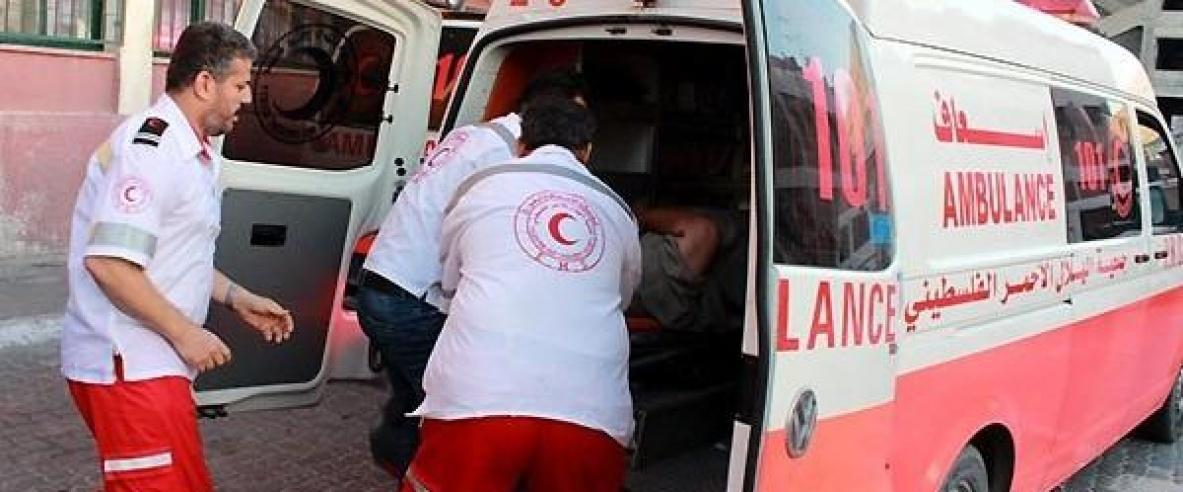 اصابة 3 مواطنين في حادث سير جنوب غزة