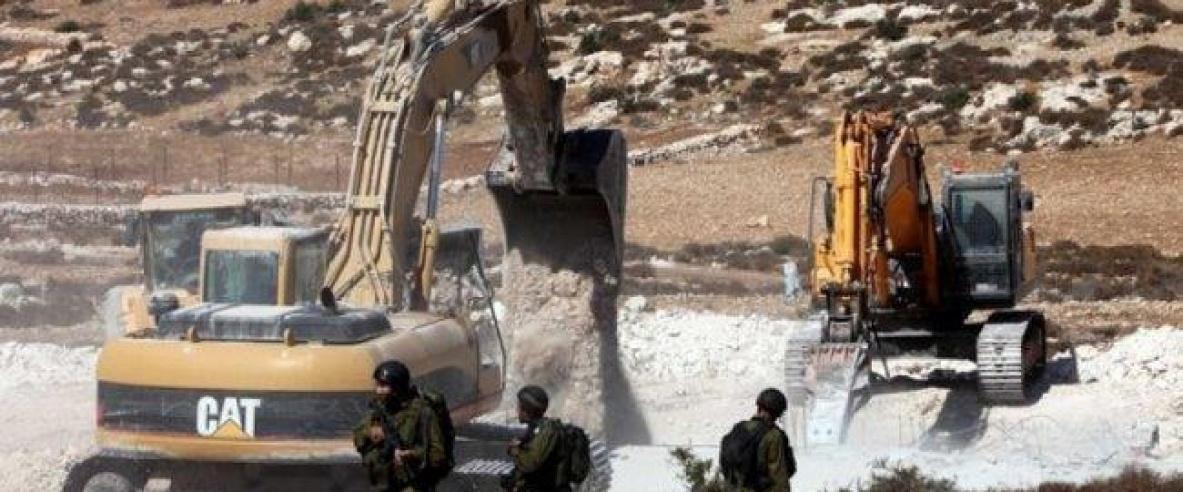 الاحتلال يشرع بعمليات هدم جنوب نابلس