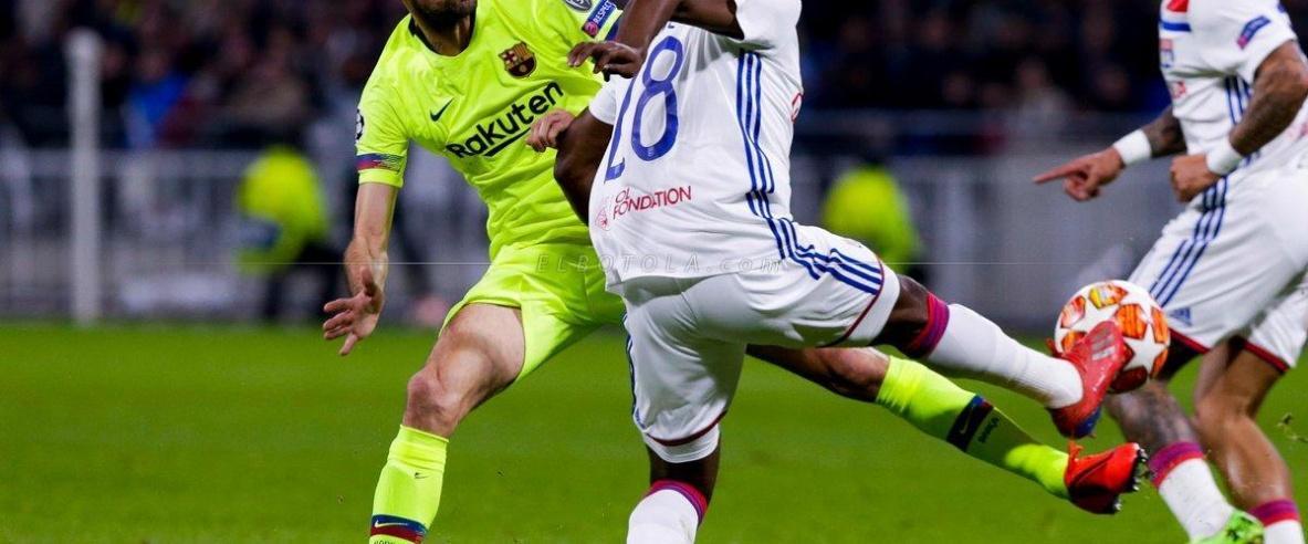 برشلونة يؤجل حسم تأهله للإياب بالتعادل مع ليون