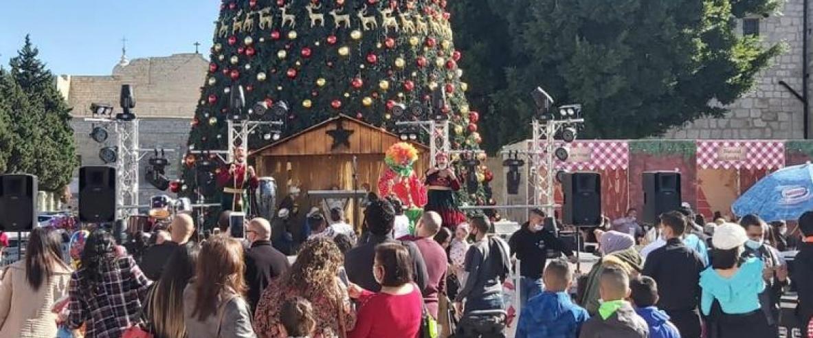 افتتاح سوق الميلاد السنوي العشرين في بيت لحم