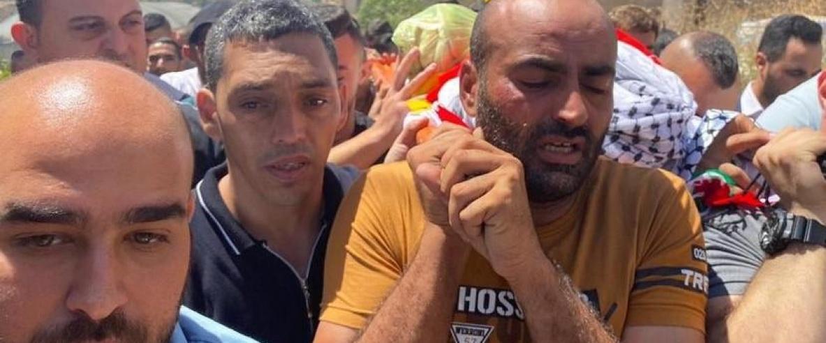 تشييع جثمان الشهيد محمد العلامي في الخليل