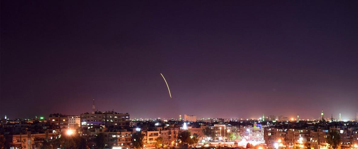 النظام السوري يعلن تصديه لهجوم صاروخي إسرائيلي في محيط دمشق