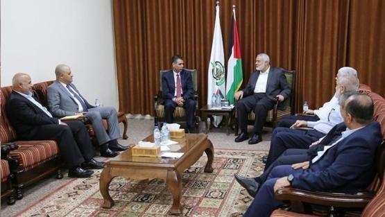 الوفد المصري يلتقي هنية للمرة الثانية