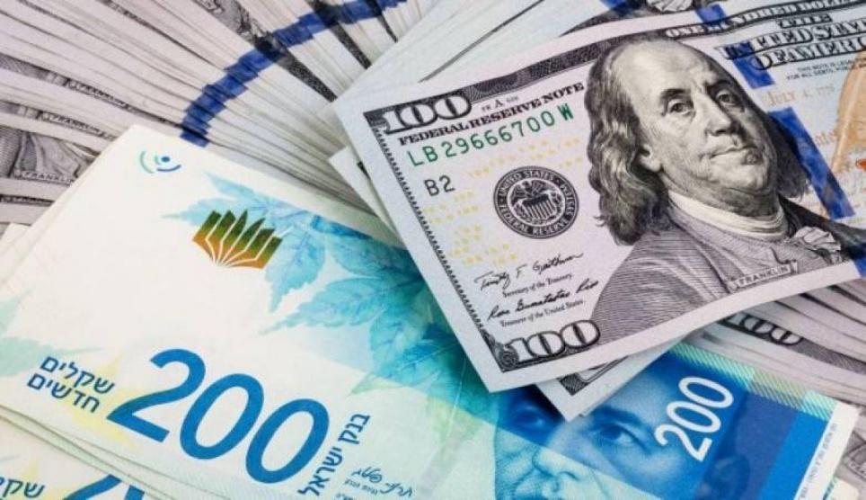 ارتفاع طفيف للدولار مقابل الشيقل