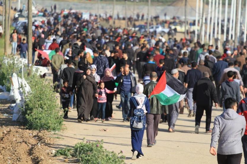 بدء مسيرات العودة شرق غزة